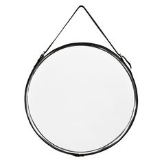 Mirror with leather