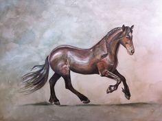 Tjerk, Fries paard, watercolor, Joke van der Klink