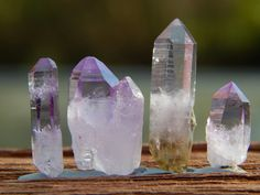 Vera Cruz Amethyst points from Mexico. Make sure to stop by www.ChicagoGemShop.com and make an account to start earning Brilliance points!