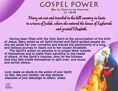 Gospel Power – Feast of the Visitation