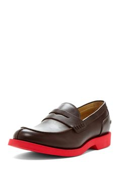 Thomas Dean Polished Leather Penny Loafer on HauteLook
