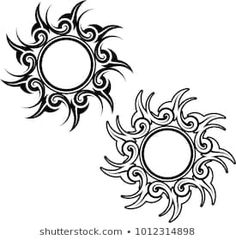 Tribal Tattoo Sun Design Vector Art Stock Vector (Royalty Free) 1012314898 - The Effective Pictures We Offer You About diy face mask sewing pattern A quality picture can tell - Flame Tattoos, Sun Tattoos, Tattoos Skull, Sleeve Tattoos, Tattoos For Guys, Celtic Tattoos, Sun Tattoo Tribal, Moon Sun Tattoo, Fire Tattoo