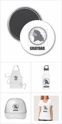 """Graydar"" collection of grey hair pride products by Janusian Gallery. #zazzlemade"