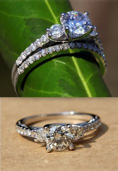 can I just have 12 million diamond rings??? haha sooo pretty --- beautiful ring from etsy