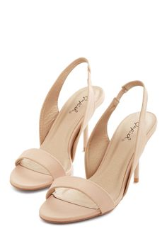 Foxy Ladylike Heel in Beige. Slipping your toes into these chic and sassy beige heels, you know theyve got to be yours, all yours. #cream #modcloth