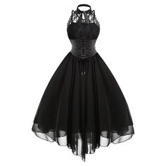 Gothic Fashion 519602875756665346 - Lace Panel Cross Back Gothic Corset Dress Source by emadureve Gothic Corset Dresses, Goth Dress, Gothic Outfits, Edgy Outfits, Mode Outfits, Lace Corset, Gothic Clothing, Vintage Corset, Steampunk Clothing