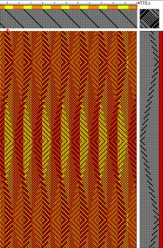 I was able to salvage some images from my broken memory stick. These are more photos of my men's scarves I have on the loom at the moment. Drawdown of this pattern using two colours in the wa…