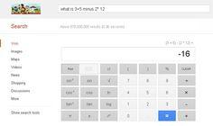 Google's New scientific Calculator...