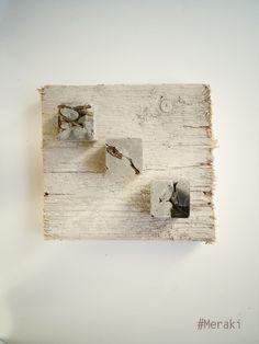 My Meraki Potatura 01. Cemento, rami secchi, legno da cassero.