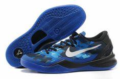0d45b342e16d Kobe 8 Royal Blue Reflective Silver Black Blue Basketball Shoes