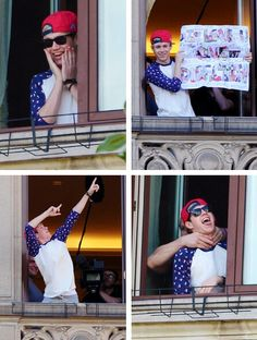 Niall outside his hotel room today