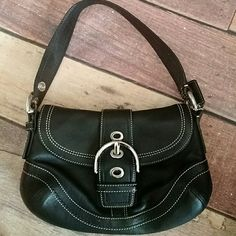 Coach f10909 bag nwot Beautiful black leather Coach f10909 small shoulder bag. New without tags Coach Bags Shoulder Bags