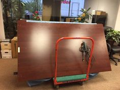 Here is a conference room table COR Movers Moved recently