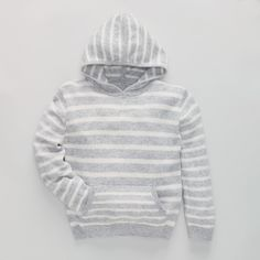 Hooded Stripy Sweater | The White Company