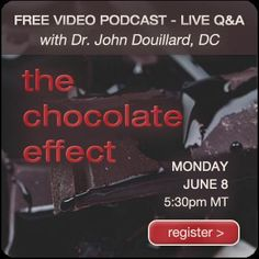 FREE video podcast tonight @ 5:30pm! THE CHOCOLATE EFFECT! Its going to be pretty sweet. http://lifespa.com/event/the-chocolate-effect