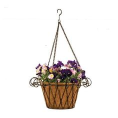 Brighten any area in your garden with a metal flower basket and your favorite blooms!
