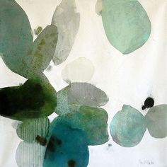 Gorgeous shades of #green to in this #artwork by @meredithparduestudio #painting #art #colour #inspiration #optimisedesign #colouroftheyear #pantone2017
