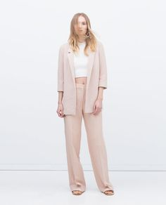 Image 1 of from Zara Zara Jackets, Long Jackets, Jackets For Women, Blazers, Zara New, Summer Jacket, Work Wardrobe, Classic Looks, Totes