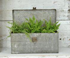 Vintage Industrial Metal Box by ReImaginedVintageLLC on Etsy