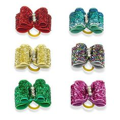 Berry 20pcs Cute Dog Hair Bows with Rubber Bands - Crystal Rhinestone Studded - Sparkly Nylon Pet Grooming Accessories for Long Hair Dog & Kitten - Perfect for Poodles,Yorkshire Terrier, Shih Tzu - http://www.thepuppy.org/berry-20pcs-cute-dog-hair-bows-with-rubber-bands-crystal-rhinestone-studded-sparkly-nylon-pet-grooming-accessories-for-long-hair-dog-kitten-perfect-for-poodlesyorkshire-terrier-shih-tzu/
