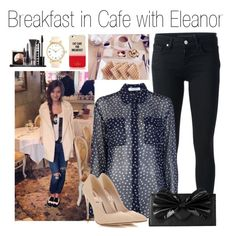"""Breakfast in Cafe with Eleanor"" by mona-h0ran ❤ liked on Polyvore featuring Victoria Beckham, Alexander McQueen, Nook & Willow, Miss Selfridge, Kate Spade, Forever 21 and LORAC"
