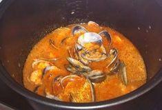 Receta de Langostinos y almejas a la marinera en olla modelo GM Alfa Chefs, Olla Gm G, Thai Red Curry, Cooker, Ethnic Recipes, Food, Gourmet, Model, Cooking Recipes