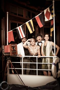 Copyrighted by Gruber Photographers 2013 Titanic Tribute Holiday Party Shoot Booth Favorites Dinner Themes, Party Themes, Titanic Prom, Cruise Ship Party, Library Events, Love Boat, Dad Birthday, Nautical Theme, Holiday Parties