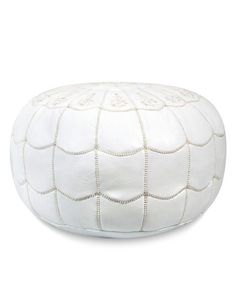White Arches Pouf