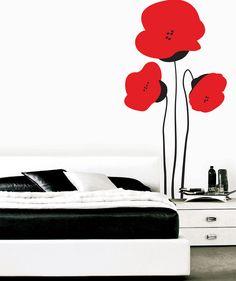 Japanese Poppies - Vinilo Adhesivo mate florales. $69.900 COP. Cómpralo aquí--> https://www.dekosas.com/productos/decoracion-hogar-vinilos-decorativos-myvinilo-japanese-poppies-detalle