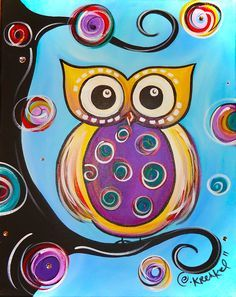 Animals crafts painting, easy canvas painting ve owl canvas Easy Canvas Painting, Easy Paintings, Painting For Kids, Art For Kids, Owl Paintings, Dot Painting, Kunst Party, Ladybug E Catnoir, Wal Art
