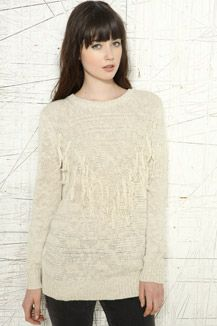 Staring At Stars Fringed Nepped Pullover