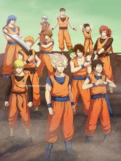 All in one.  DBZ Yu Yu Hakusho One Piece Toriko Naruto Bleach