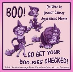 October is Breast Cancer Awareness Month! Get your Boo-bies checked ! Im A Survivor, Breast Cancer Survivor, Breast Cancer Awareness, I Hate Cancer, Beat Cancer, Breast Cancer Crafts, Save The Tatas, Cancer Quotes, Frases