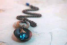 Blue Necklace Believe in me inspiration by JillianDesigns4u, $42.00