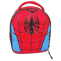 The ULTIMATE SPIDER-MAN 3-D Molded-Chest Lead Free Insulated Lunch Bag