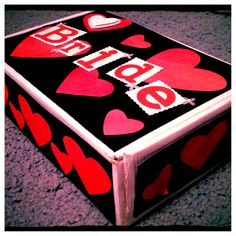 Bachelorette handmade gift box instead of wrapping paper