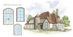 French Eclectic Home Style Window Door Overview