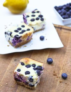 Lemon Blueberry Cheesecake Bars are the yummiest dessert