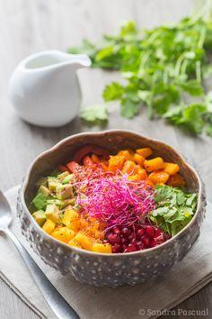 Le Buddha Bowl c'est la nouvelle tendance culinaire saine et colorée pour faire le plein de vitamines et de bonne humeur!