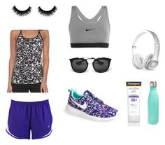 """workout"" by isabelvsacre on Polyvore featuring NIKE, Beats by Dr. Dre, Prada, Neutrogena and S'well"