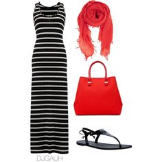 Black White & Red by djgauh on Polyvore