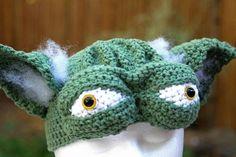 Crochet Yoda Hat - Made to Order. $40.00, via Etsy.