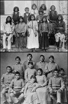 "American Indian Boarding Schools: damage still being felt today. To quote a priest from the Pine Ridge Reservation, ""It's genocide, and it's ongoing."""