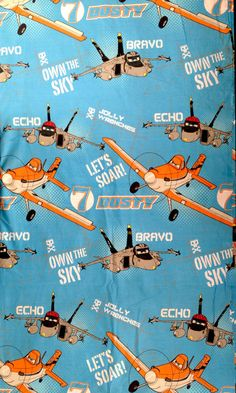 Disney PLANES Echo & Bravo Fabric Cotton Blend by SewingUniverse
