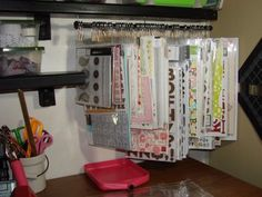 CRAFTY STORAGE: DIY Storage   would take up less space than another clip it up. Using clip it up clips