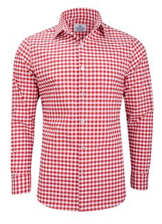 """Hatteras"" Red Check Performance Dress Shirt"