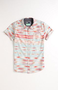 Modern Amusement Delonga Printed Short Sleeve Woven Shirt Dope Fashion 9e159c2f2c551