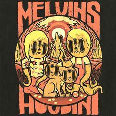 MELVINS - HOUDINI | Illustrator: Daniel Bressett - http://clearlywrong.tumblr.com