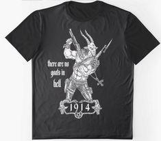 New Shirts 1914 Metal T Shirts, Metal Art, Mens Tops, Goat, Products, Goats, Metal Yard Art, Gadget
