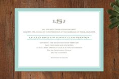 Classic Prep Wedding Invitations by annie clark at minted.com